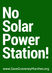 no solar power station green sign