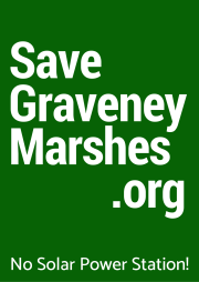 savegraveneymarshes.org green sign